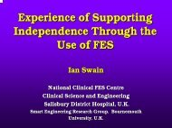 From Circuit Design to Service Delivery - Establishing a Clinical FES ...