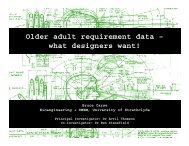 Older adult requirement data – what designers want!