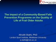 The impact of Falls Prevention Exercise Programmes on ... - SPARC