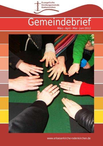 Gemeindebrief - Evangelischen Kirchengemeinde Rodenkirchen