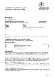 Utbildningsplan för program RKL005 - Institutionen för etnologi ...