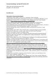 Genusvetenskap I - litteraturlista ht12 - Institutionen för etnologi ...