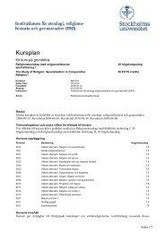 Utbildningsplan för program RKL003 - Institutionen för etnologi ...