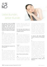 Liebe Kundin, lieber Kunde, - MDM