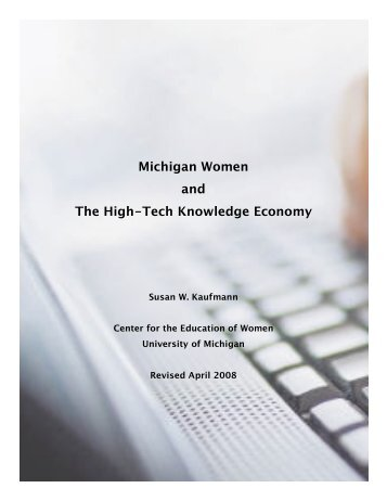 Michigan Women and The High-Tech Knowledge Economy