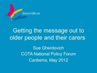 Getting the Message Out to Older People and their Carers - Cota