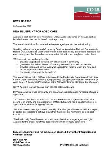 Andriana koukari assistant secretary cota new blueprint for aged care cota malvernweather Choice Image