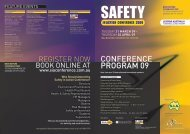 ConferenCe Program 09 - Safety Institute of Australia