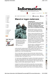Læs interview her - Selskab for Mænds Sundhed