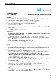 CV in english - Selskab for Mænds Sundhed