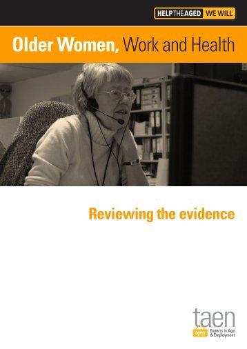 ID5604 Older women, work and health - TAEN