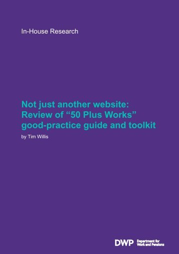 review of 50 Plus Works good practice guide and toolkit - Gov.uk