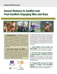 Sexual Violence in Conflict and Post-Conflict: Engaging ... - UNFPA