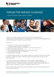 forum for mænds sundhed her - Selskab for Mænds Sundhed