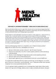 mens health week/weeks 2013 - Selskab for Mænds Sundhed