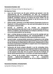 TEOLOGIESE OPLEIDING: VBO (vgl Agenda A.8 ... - Kerkweb.org