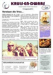14 Augustus 2013 - Kerkweb.org