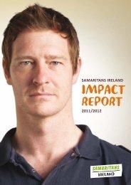 Download a copy of Samaritans Ireland's 2012 impact report