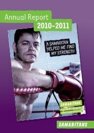 Samaritans Annual Report and Accounts 2010/11 (PDF)