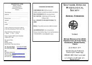 SOUTHERN AFRICAN MISSIOLOGICAL SOCIETY - Kerkweb.org