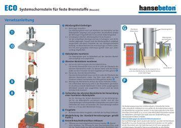 versetzanleitung erutec eco ecomini pdf hansebeton. Black Bedroom Furniture Sets. Home Design Ideas