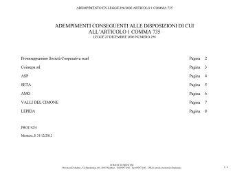elenco partecipate 2012_2.pdf - Comune di Montese
