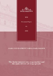 The forint interest rate swap market and the main drivers of ... - MEK