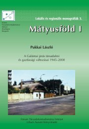 3124. Author: Pukkai László Title: Matyusföld I 03316.pdf ... - MEK