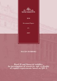 Basel II and financial stability: An investigation of sensitivity ... - MEK