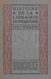 Histoire de la librairie hongroise - MEK