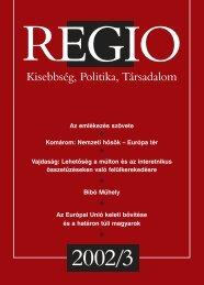 Regio - Kisebbség, politika, társadalom 13.évf. (2002.) 3.sz