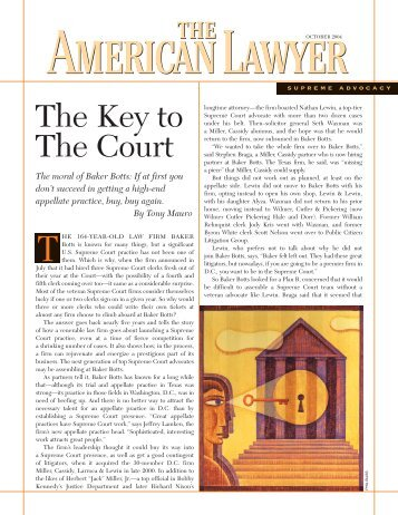 The Key to The Court - Baker Botts LLP