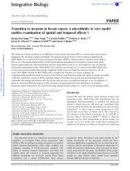 Integrative Biology PAPER - Microtechnology Medicine Biology Lab