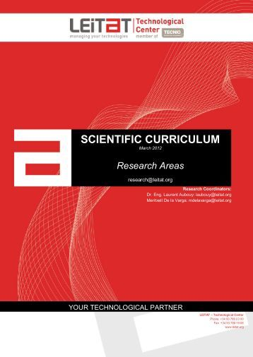 SCIENTIFIC CURRICULUM - Leitat
