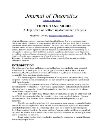 Top down or bottom up - Journal of Theoretics