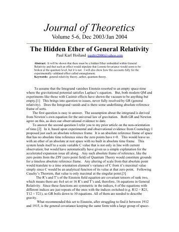 this - Journal of Theoretics
