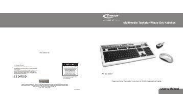 User's Manual Multimedia Tastatur/Maus-Set Kabellos