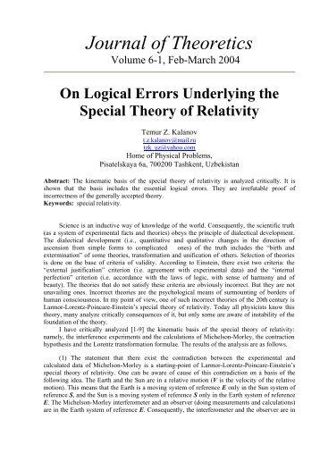 On Logical Error underlying the Special Theory of Relativity