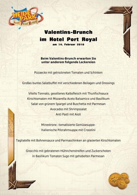 Valentins-Brunch im Hotel Port Royal