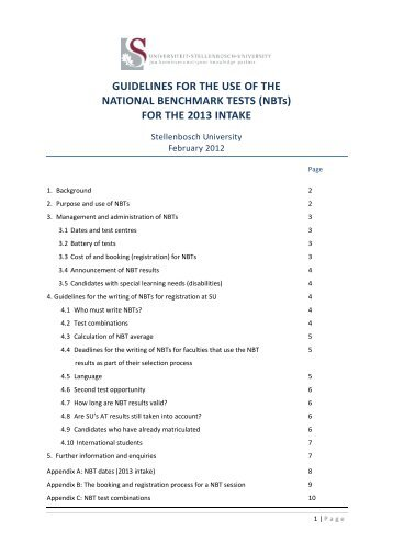 GUIDELINES FOR THE USE OF THE NATIONAL ... - Matie