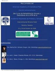 JORNADA AACP - American Academy of Craniofacial Pain