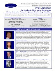 For Snoring & Obstructive Sleep Apnea - American Academy of ...
