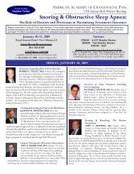 Meet the Speakers - American Academy of Craniofacial Pain