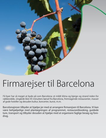 Firmarejser til Barcelona - Barcelona Rejser