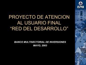 PROYECTO DE ATENCION AL USUARIO FINAL - Alide