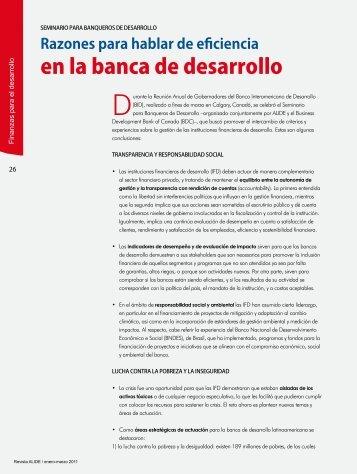 en la banca de desarrollo - Alide