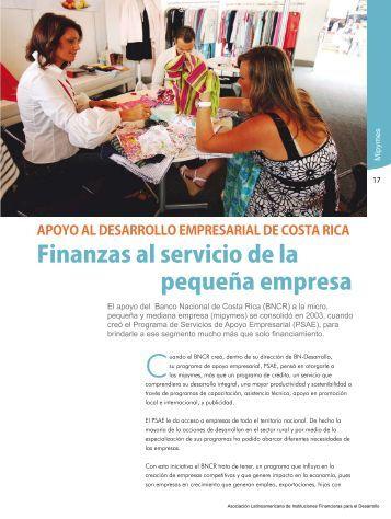 Finanzas al servicio de la pequeña empresa - Alide