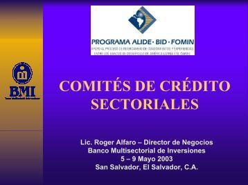 comités de crédito - Alide