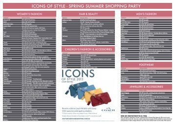 icons of style - spring summer shopping party - Chatswood Chase