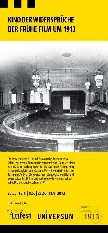 der frühe film um 1913 - Filmfest Braunschweig